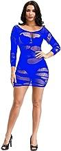 WDSTA Underwear for Womens Sexy Transparent Mesh Lingerie Long Sleeves Hip Skirt Dress