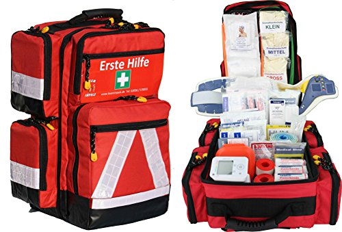 Erste Hilfe Notfallrucksack Sport Freizeit & Event mit 4 Außentaschen