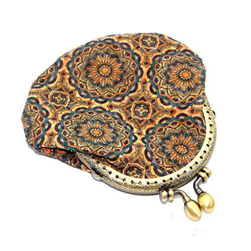 Allegorly Neue Geldbörse Damen Retro Vintage Flower Kleine Haspe Portemonnaie Brieftasche Geldbeutel Elegant Handtasche Frauen Mode