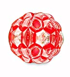 Red Bright Lights BBOP Buddy Bumper Ball Confetti Filled Motion Activated LEDs Inflatable Body Soccer Suit Durable PVC Vinyl 36'' Diam