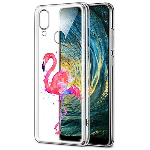 Eouine Funda Huawei P20 Lite, Cárcasa Silicona 3D Transparente con Dibujos Diseño Suave Gel TPU [Antigolpes] de Protector Case Fundas para Movil Huawei P20Lite 2018-5.84 Puldagas (Avestruz)