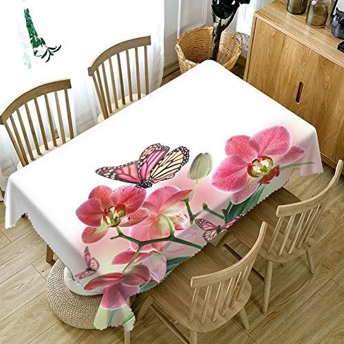 XXDD Mantel 3D para el Día de San Valentín con diseño Floral, Mantel Taylormade, decoración para la Familia, Mantel Rectangular A8, 150x210cm