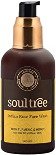 Sponsored Ad - SOULTREE All Natural Indian Rose & Turmeric Face Wash | With Aloe & Forest honey infused which helps Fight ...
