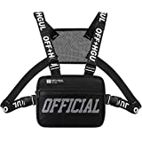 Ousawig Chest Rig Bag Adjustable Shoulder Pack Walkie Talkie Harness Radio Holster Holder