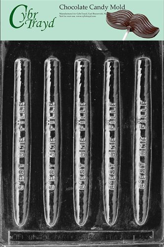 FRENCH GIRL CIGARS- C'EST UN chocolate candy mold