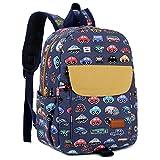 KD-01 Kinderrucksack Babyrucksack Kindergartenrucksack Kindergartentasche Backpack Schultasche Kinder Mini Backpack Fur Kindergarten Kleinkind Kind Vorschule mit Brustgurt (Blau Bus)