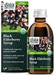 Gaia Herbs, Black Elderberry Syrup, Daily Immune Support with Antioxidants, Organic Sambucus Elderberry Supplement, 3 Ounce