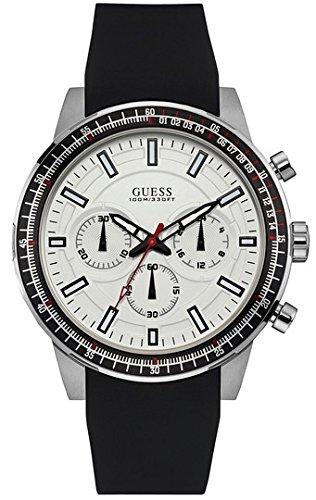 Guess Orologio Cronografo Quarzo Uomo con Cinturino in Pelle W0802G1