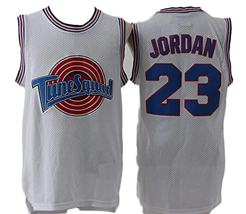 KSDF Jordan 23# Basketball Jersey, Malla Transpirable WearablesEleveless sin Fino Chaleco, Ocio Ropa Deportiva de Entrenamiento de Secado rápido (S-XXL) White-XXL