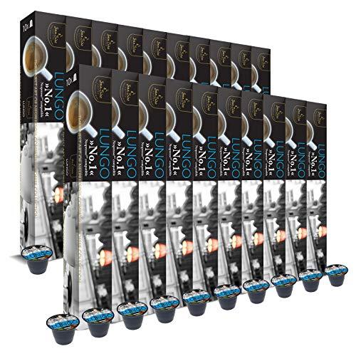 SanSiro 20x Kaffee Lungo Baguette No. 1: Nespresso kompatible – 200 Kaffeekapseln, 1er Pack (1 x 1 kg)