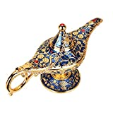 N / C Classic Vintage Magic Genie Light Aladdin Lantern Lamp, Regalo Coleccionable de Lujo para Manualidades Raras, para decoración de Mesa en casa, Fiesta, cumpleaños, Halloween