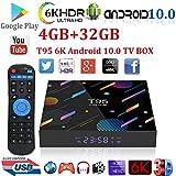 Android 10.0 TV Box,Xgody T95 4GB RAM 32GB ROM Smart TV Box Allwinner H616 Quad-core 64bit,Support Dual WiFi 2.4GHz/5GHz/ 6K UHD/ 3D/ H.265 Streaming Media Players