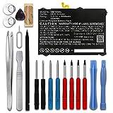 subtel® Batterie Premium Compatible avec Samsung Galaxy Tab S3 (SM-T820 / SM-T825) 6000mAh + Set de Micro vissageEB-BT825ABA Accu de Rechange Remplacement