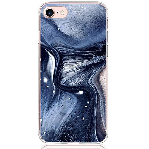 13peas Compatible pour Coque iPhone 7, iPhone 7 Plus Case Coque Silicone Motif Marbre Transparente Housse Etui de Protection Anti-Scrach Bumper Coque pour iPhone 7 Plus