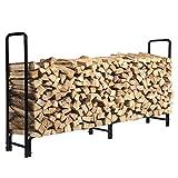 KINGSO 8ft Firewood Rack Outdoor Heavy...