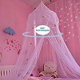 NO LOGO XW-WZ, Decoración de los niños de la Cama de bebé de la Tienda de mosquitera de la Princesa del bebé de los niños Redondos en Sitio (Color : E)