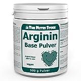 Arginin Base veganes Pulver 500 g 100 % rein - ohne weitere Zusätze