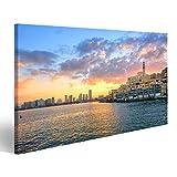 bilderfelix® Bild auf Leinwand Alte Stadt von Jaffa und