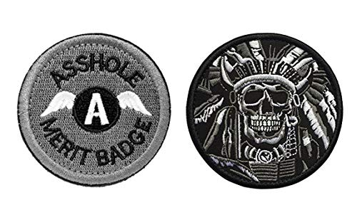 Antrix Tactical Morale Backpack Patches Asshole Skull Patches for Jeans Pants Jacket Clothing Clothes Vest Dog Harness