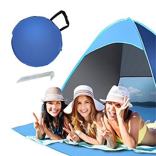 Aotlet Strandmuschel und UV-Schutz,Automatisches Strandzelt für 2-3 Personen,Outdoor Tragbar Wurfzelt mit Tragetasche und Zeltpflöcke