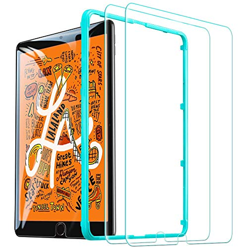 ESR Screen Protector for iPad mini 5 2019/iPad mini 4 2015 Released, [2 Pack][Free Installation Frame], [Scratch-Resistant] 9H Hardness HD Clear Premium Tempered Glass Screen Protector, 2 Pack