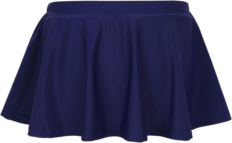 TiaoBug Girls' Swimming Bottom Swim Shorts Skirt UPF 50+ Quick Dry Beach Elastic Waist Boardshort Ruffle Bikini Short