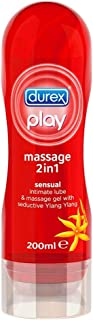 Durex Play Massage 2 en 1 Lubricante - 200 ml, Sensual (