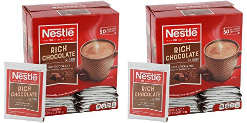 Nestle Hot Chocolate Packets, Hot Cocoa Mix, Rich Chocolate Flavor, Made with Real Cocoa, 50 Count (0.71 Oz each), 35.5 Oz Pack of 2