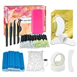 EAONE 460PCs Eyelash Extension Kit Eyelash Tools Practice Exercise Set, Including Eyelash Brushes Eyelash Swabs Eye Pads Tweezers for Women Girl Beginner Makeup Training Eyelash Kit