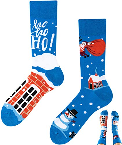 TODO COLOURS Weihnachten Socken Damen & Herren Lustige Weihnachtssocken (39-42, Santa Gift)