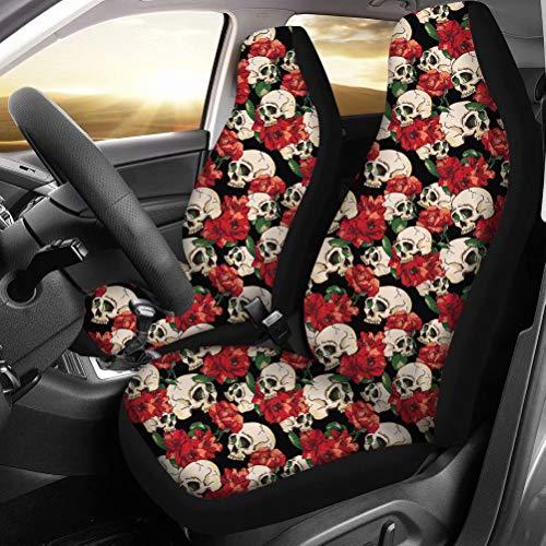 chaqlin - Juego de 2 fundas de asiento de coche para asientos delanteros, tamaño universal para coches, camiones y todoterrenos