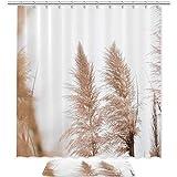 TIZORAX - Set di tende da bagno per doccia, con tappetino antiscivolo, decorazione per la casa