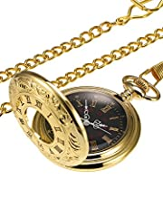Detachable chain: the package includes a pocket watch and a necklace chain with hook; The removable chain is easy to assemble and disassemble Way to open: the quartz pocket watch is simply designed; You can press the crown at the top of watch, and th...
