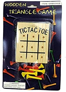 Windy City Novelties Wooden Tic Tac Toe Peg Desk Game [並行輸入品]