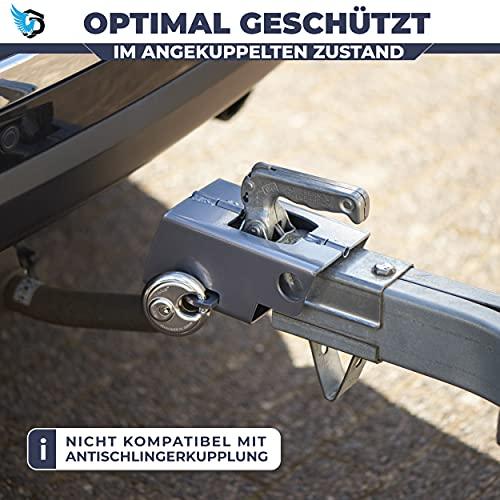 Premium Anhängerschloss, inkl. ABUS Diskus - 2 in 1 Funktionalität, optimaler Schutz im an- und abgekuppelten Zustand - in jeder Wetterlage bestens geschützt, Dank hochwertiger Pulverbeschichtung