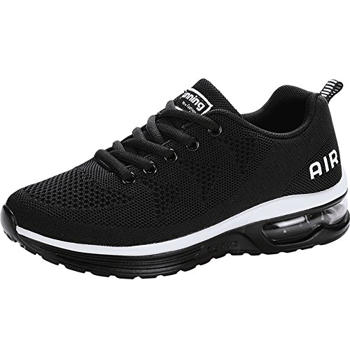 JARLIF Women's Lightweight Athletic Running Shoes Breathable Sport Air Fitness Gym Jogging Sneakers (8.5 B(M) US, Black)