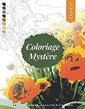 Coloriage mystère: livre de coloriage pour adultes par numéro | FLORAL | 50 dessins à colorier en format A4 | Art Thérapie
