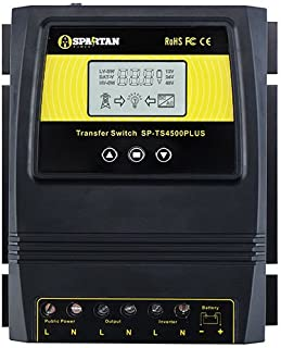 Spartan Power 50A 5500 Watt Automatic Transfer Switch Great for Solar & Wind Off Grid Systems
