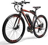 LANKELEISI Bicicleta eléctrica RS600, motor 300W, batería Samsung 36V 20Ah, marco de aleación de aluminio, bicicleta eléctrica de carretera (rojo)