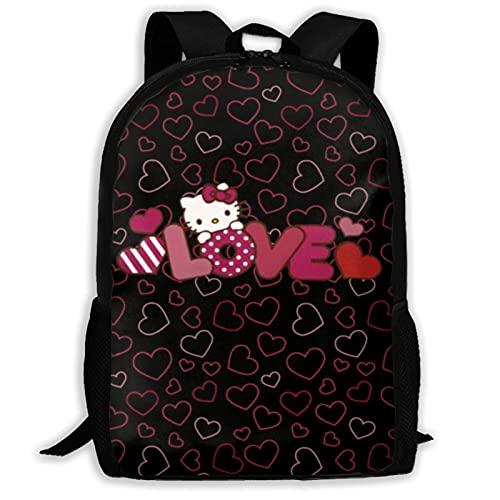 Hello Kitty Love (2) Bolsas escolares Senderismo Mochila Escolar Mochila Mujeres Hombres