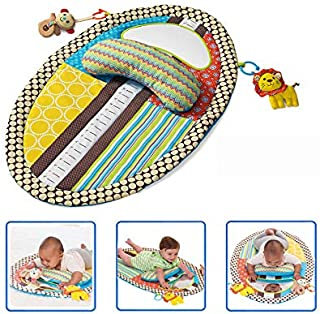 4 in 1 Tummy Time Baby Play Mat with Mirror & Pillow for Infants Toddlers Non-Toxic Waterproof Easy-to-Clean Activity Center for Newborns Engaging Fun Toys for Stimulation Growth 22