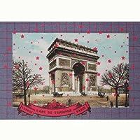 ポストカード 「パリー塗り絵ごっこ」 05 凱旋門