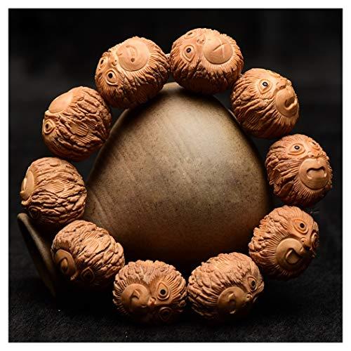 ZYLE Mono de la Nuez de Mano, Nuez Pulsera, tallados a Mano, Diferentes Formas (Size : Small)