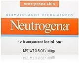Neutrogena Transparent Facial Bars, Acne-Prone Skin Formula, 3.5 Ounce (Pack of 8)