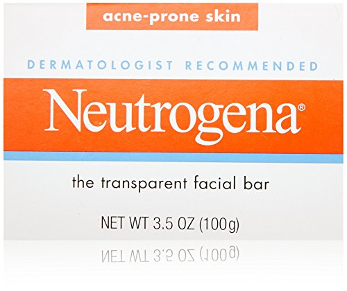 Price comparison product image Neutrogena Transparent Facial Bars,  Acne-Prone Skin Formula,  3.5 Ounce (Pack of 8)