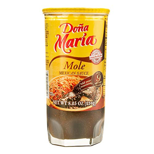 DONA MARIA Mole Regular Paste, 8.25 Ounce (Pack of 12)