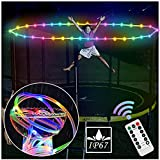 YOFUN Trampoline Lights, Uphraded Version - 39 FT Trampoline Rim LED Light, Remote Control Trampoline Accessories Light with 8 Lightening Modes, 16 Color Changing