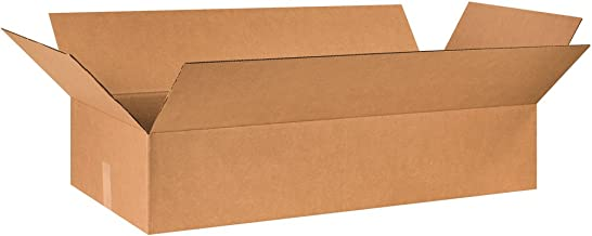 """Aviditi 40188 Corrugated Cardboard Box 40"""" L x 18"""" W x 8"""" H, Kraft, for Shipping, Packing and Moving (Pack of 10)"""