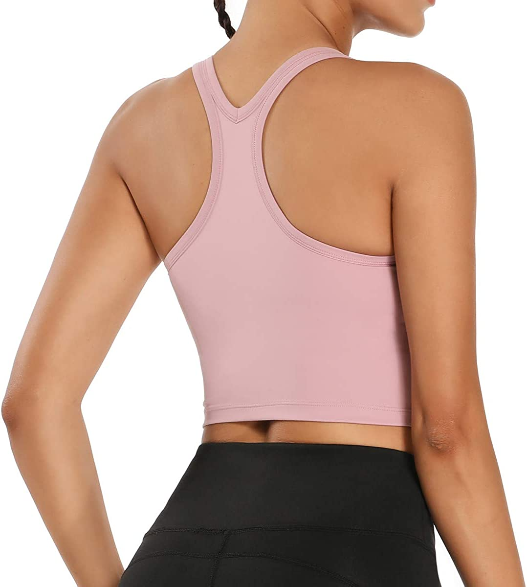 Nanomi Beauty Womens Removable Padded Sports Bras Workout Running Yoga Tank Tops