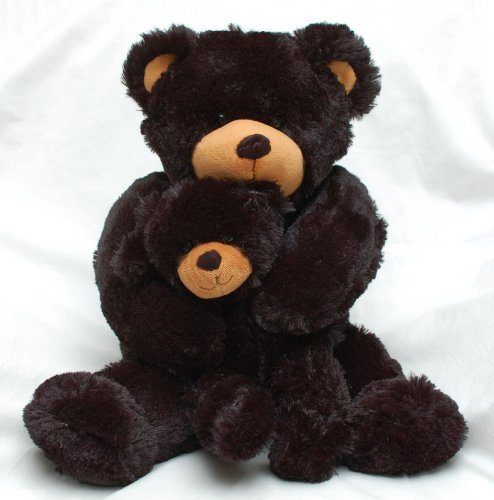 uni 18' Mommy and Baby Black Bear Plush
